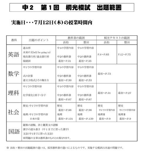 2018第1回桐光模試 出題範囲B5.pdf2
