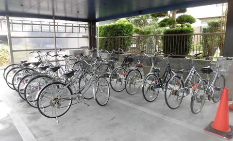 自転車が待ってます 杉山