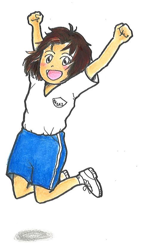 kasai 女の子 夏 体操服 ジャンプ