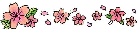 桜のテンプレート2