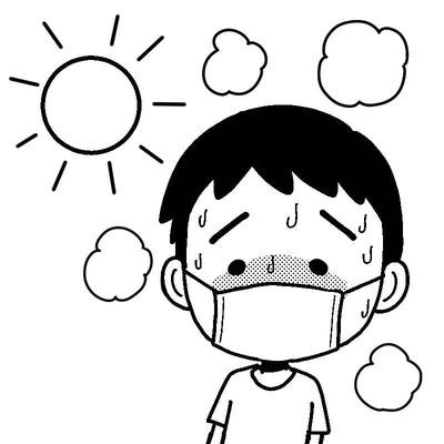 mask-heatstroke-boy-mono