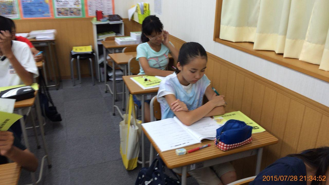TOKO  北浜校ブログ      中1A  夏期講習スタート    コメント