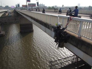 橋梁点検@カンボジア