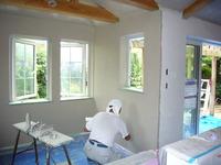 内部壁漆喰塗り