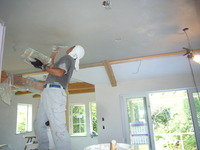 天井漆喰塗り