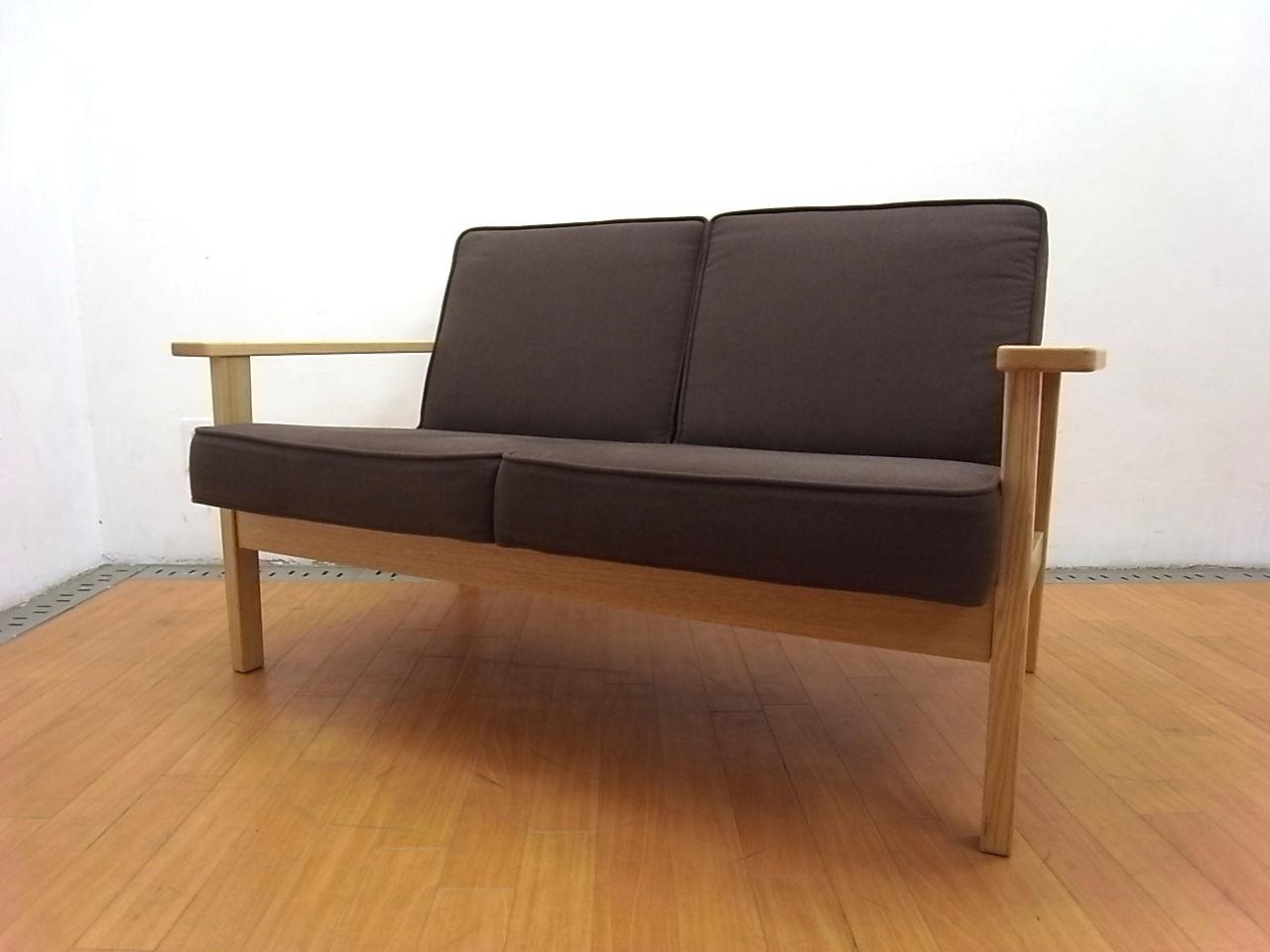 無印良品MUJIタモ材ダークブラウンダイニングテーブル80cm人気のカジュアルブランド/定番