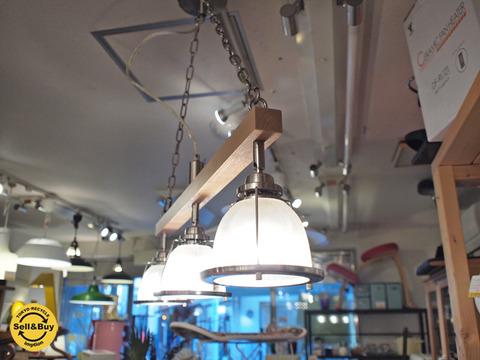 ウニコ unico 別注 ハモサ HERMOSA Original DINER 3 ペンダントライト 3灯 レッドアルダー材 ~使いよく、見た目よいペンダントライト【買取と販売とレンタルのお店】