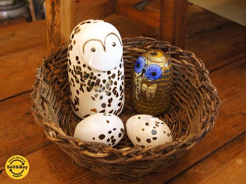 iittala イッタラバード / フクロウ&エッグ Snow Owl : Owlet : Suokurppa Egg オイヴァトイッカ ~ 愛らしく、そして福を呼ぶとされる福来郎をお部屋に