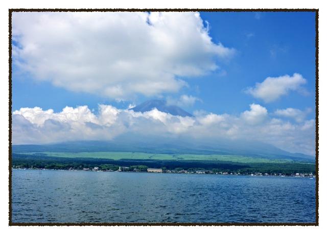 山中湖サイクリングで見えた富士山