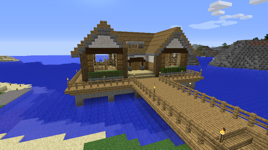 Minecraft 水上ハウスを作る とるそんのマインクラフト活動記