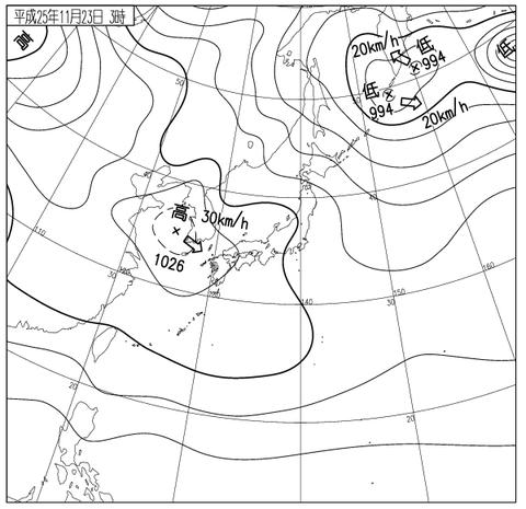 3時天気図
