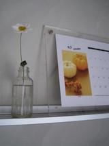 10月のカレンダーと秋明菊