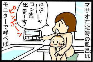 あぁ、トマコの生きる道-マサオ在宅時の風呂はラクです。
