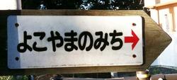 よこやまの道 道標