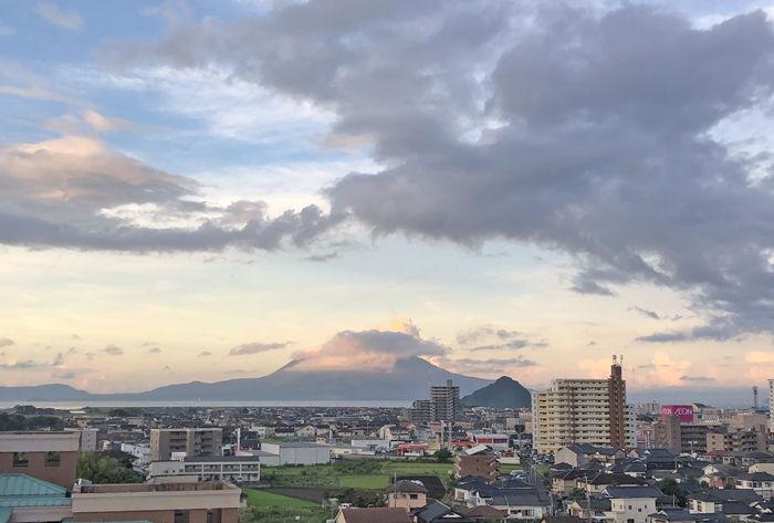 0ホテル京セラから見た桜島700