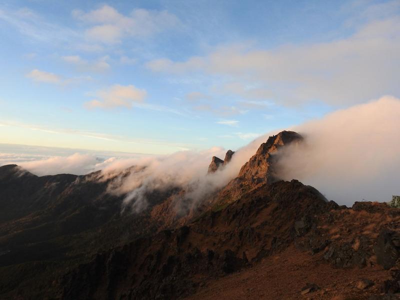 0赤岳の夕日