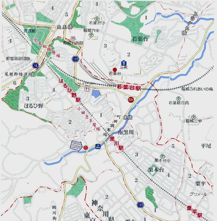 セレサモス地図拡大