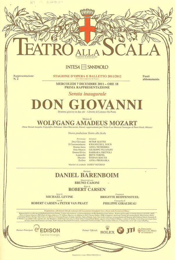 ドンジョヴァンニ12 7プログラム