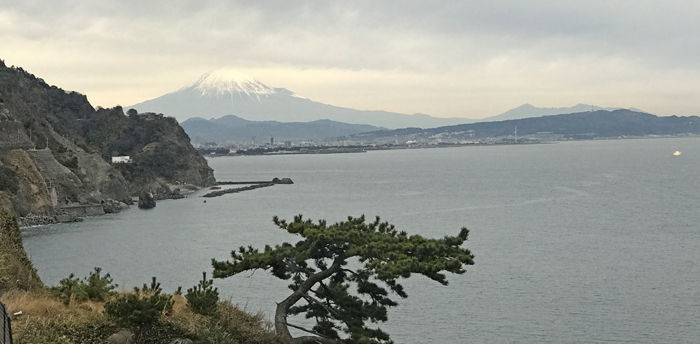 0富士山を望む