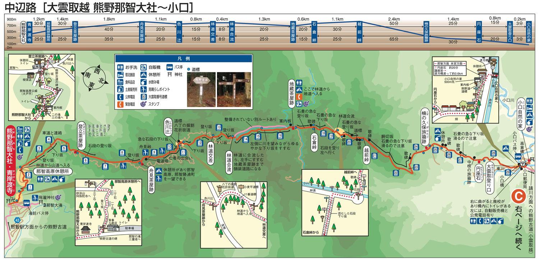中辺路(大雲取越 熊野那智大社ー小口)1500