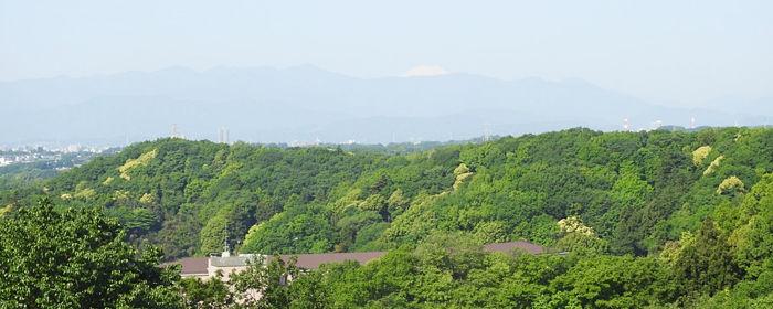 下小山田展望台からの富士山700