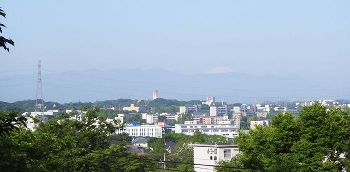 見返り峠からの富士山700