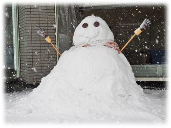 0雪だるま350