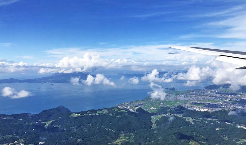 0空からの桜島800