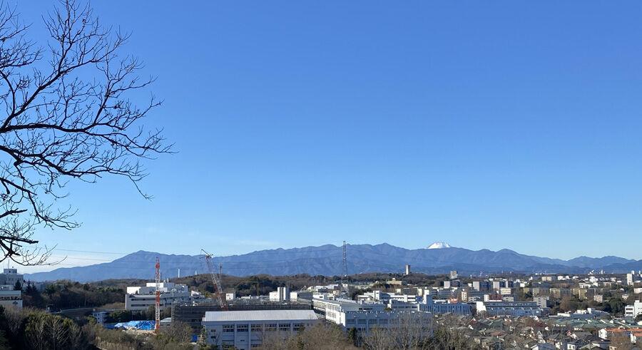 丹沢連峰と富士山900