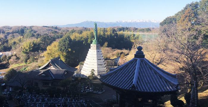 東光寺と丹沢山系700