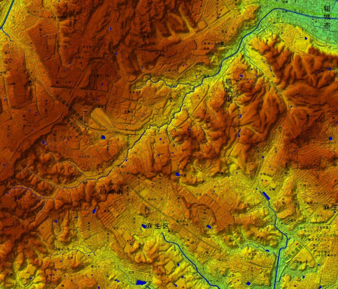 黒川地形図1100