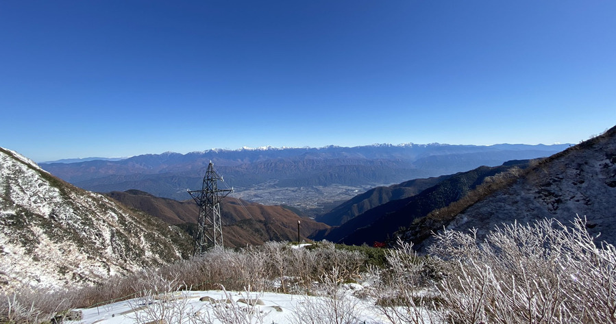駒ケ岳から望む南アルプス連峰1700