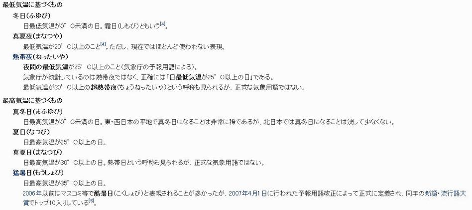 真夏日 ウイキペディア260601