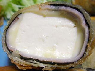 豆腐とチーズの春巻き