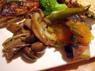 「バール・イルピアット」前菜きのこラタトゥイユ