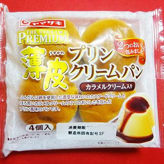 薄皮プリンクリームパン<カラメルクリーム入り>