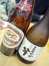 「のんのん」ビールと焼酎