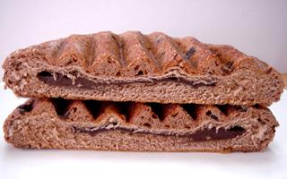 平焼きココアメロンパン(チョコクリーム)
