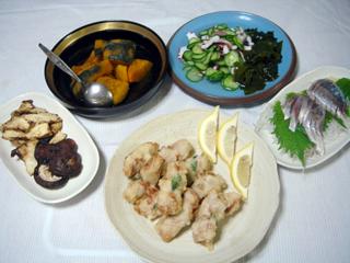 豚肉とモロヘイヤの天ぷら