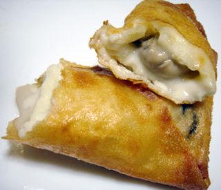 牡蛎グラタン春巻き