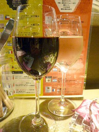 「炭火とワイン」