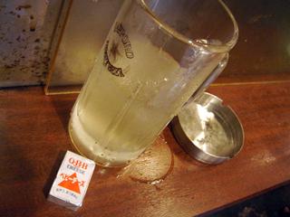 「立ち飲み屋 大瀧」酒とチーズ
