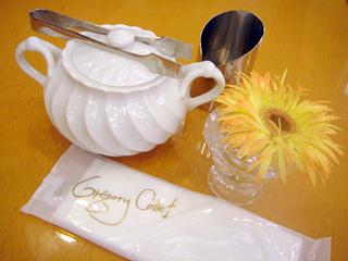 「パティスリー グレゴリー・コレ」テーブルセット