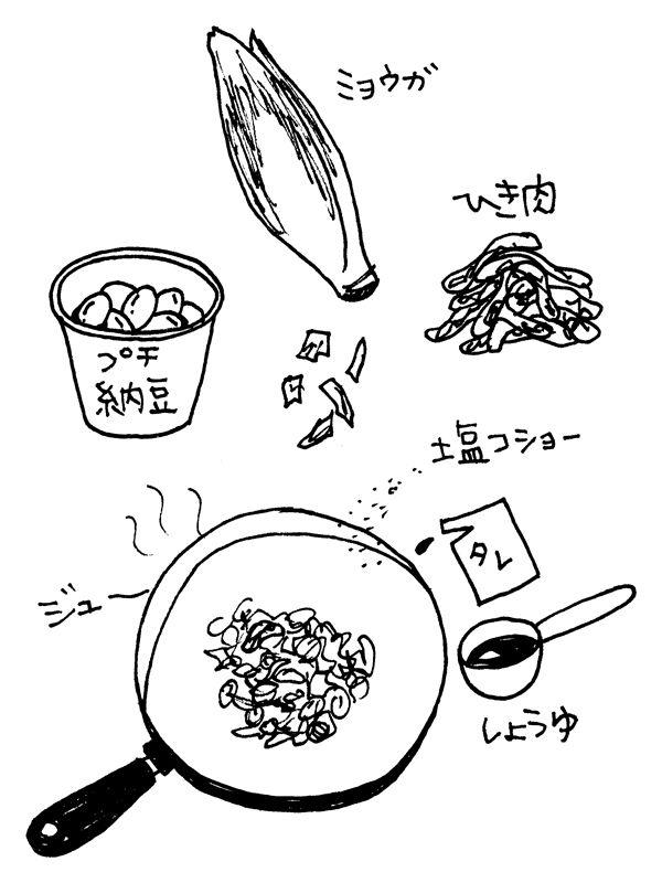 myoga_natto