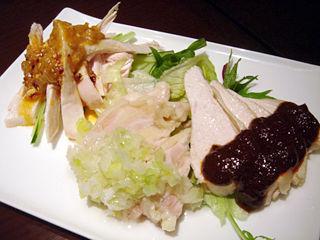 「Chinese Restaurant 都来」蒸し鶏三種