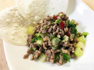 【呑みつま】ひき肉とセロリの爽やか炒め