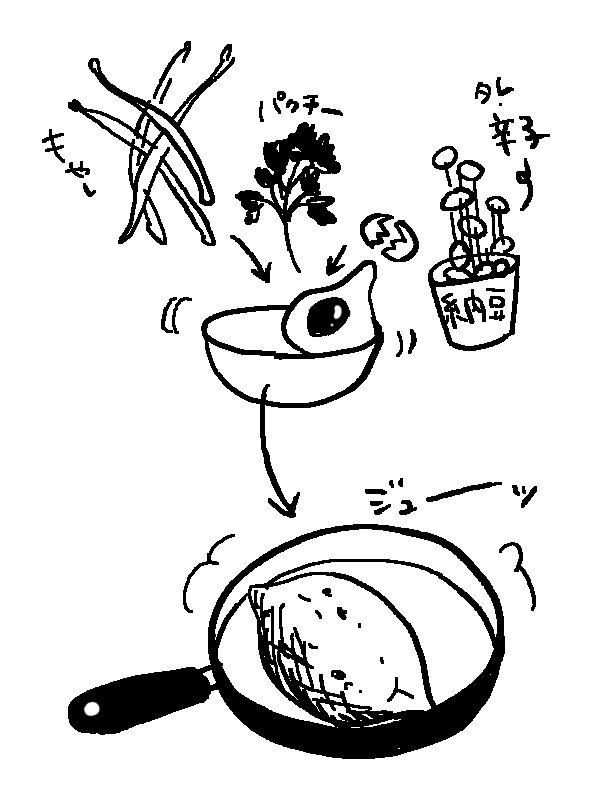 natto-omlette