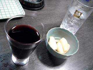 「山長梅田店」酒とらっきょう