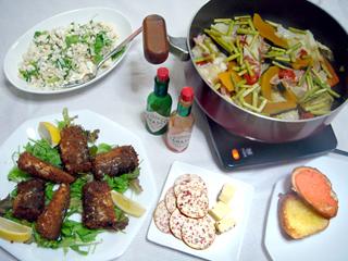 野菜とベーコンの蒸し鍋 メニュー