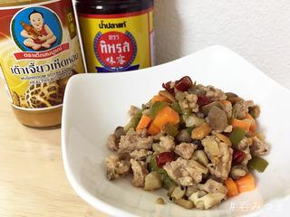 【呑みつま】ひき肉と野菜のタオチオ炒め